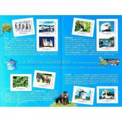 Collector de 10 timbres Poitou-Charente 2011 non dentelés accidentels. RRR.