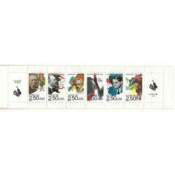 Carnet commémoratif de timbres Personnages célèbres 1992.