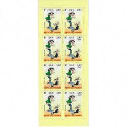 """Carnet """"Fête du timbre"""" 2001 - Gaston Lagaffe."""