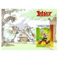 """Bloc-feuillet de timbre de France N°22 """"Astérix"""" neuf**, SUP."""
