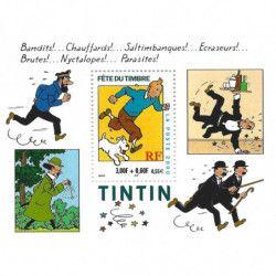 "Bloc-feuillet de timbre de France N°28 ""Tintin"" neuf**, SUP."
