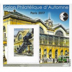 "Bloc C.N.E.P. N°76a ""Gare Montparnasse"" non dentelé."