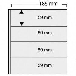 Feuilles Variant noires à 4 bandes pour timbres-poste.