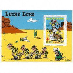 """Bloc-feuillet de timbre de France N°55 """"Lucky Luke"""" neuf** SUP."""