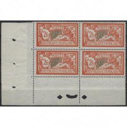 Merson timbre de France N°145 bloc de 4 impression recto-verso partielle, SUP.