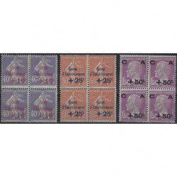 Caisse d'Amortissement série de 1928 en bloc de 4 timbres neuf** / * TB.