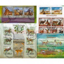 Antilopes 25 timbres thématiques tous différents.