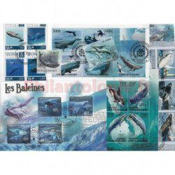 Baleines 25 timbres thématiques tous différents.