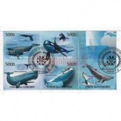 Baleines 10 blocs-feuillets de timbres thématiques.