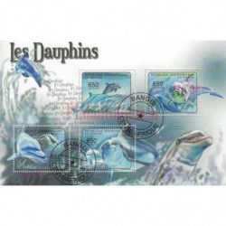 Dauphins 10 blocs-feuillets de timbres thématiques.
