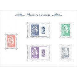 """Bloc-feuillet de timbres de France N° 143 - """"Marianne l'engagée"""" neuf** SUP."""