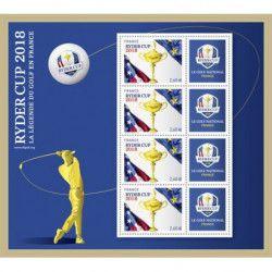 """Bloc-feuillet de timbre de France N°144 """"Ryder Cup"""" neuf** SUP."""