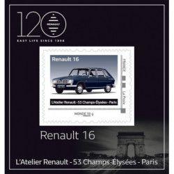 Mini collector Renault 16 en timbre-poste.