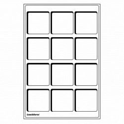 Plateaux numismatiques Leuchtturm format L à 12 cases carrées.