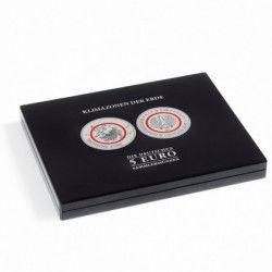 """Coffret numismatique noir pour 5 euros allemandes """"Zones climatique""""."""