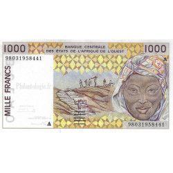 Afrique Occidentale 4 billets de banque neufs tous différents.