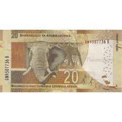 Afrique du Sud 3 billets de banque neufs tous différents.