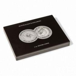"""Coffret noir pour 20 pièces de 1 once argent """"AustralianKangaroo""""."""