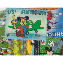Mickey 25 timbres thématiques tous différents.