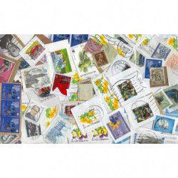 Belgique mission 250 grammes de timbres sur fragment.