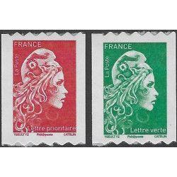Marianne l'engagée timbres autoadhésifs de France N ° 1601-1602 neuf.