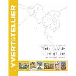 Catalogue Yvert de cotation timbres d'Asie Francophone 2019.