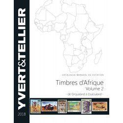 Catalogue Yvert de cotation timbres d'Afrique volume 2 édition 2018.