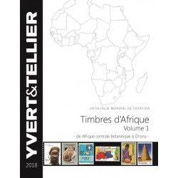 Catalogue Yvert de cotation timbres d'Afrique volume 1 édition 2018.