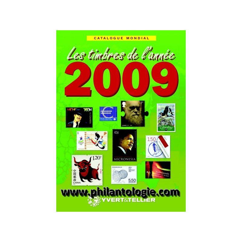 Catalogue Mondial des Nouveautés de timbres 2009 en couleurs.