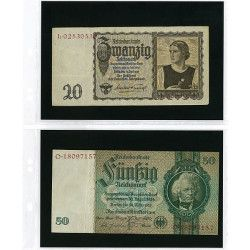 Feuilles Multi Collect Lindner à 2 poches pour billets de banque.