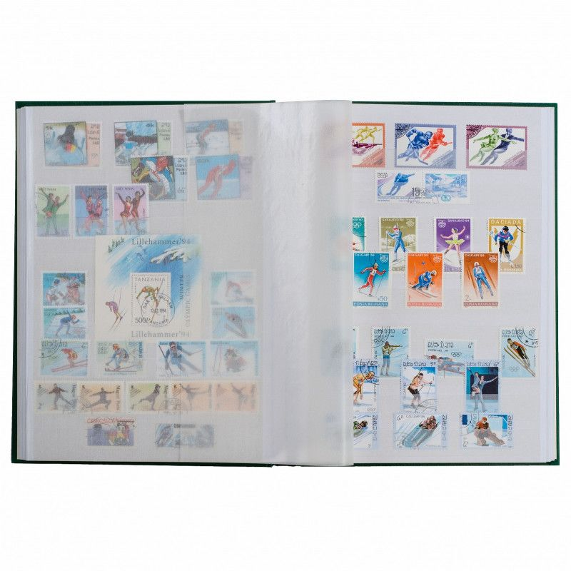 Classeur à bandes pour timbres 16 pages blanches, format A5.