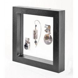 Cadre noir Nimbus 150 pour objets de collections.