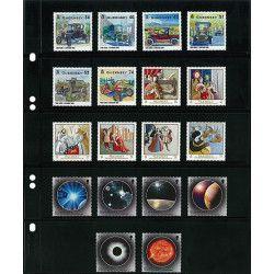 Feuilles Multi Collect Lindner noires à 5 bandes pour timbres-poste.