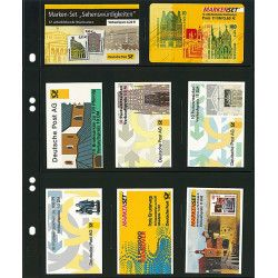 Feuilles Multi Collect Lindner noires à 8 poches pour télécartes.
