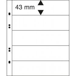 Feuilles Multi Collect Lindner transparentes à 5 bandes pour timbres-poste.