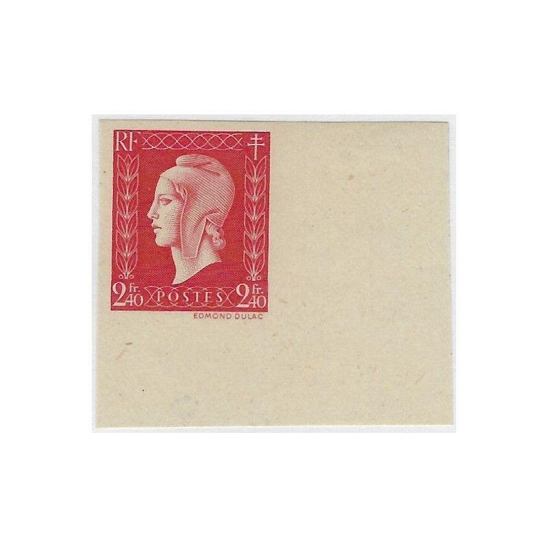 Marianne de Dulac timbre de France N°693a non dentelé neuf** SUP.
