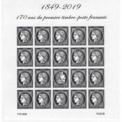 Feuillet Cérès noire - 170 ans du premier timbre-poste français F5305 neuf** SUP.