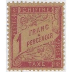 Timbre-taxe de France N°39 neuf* TB. R