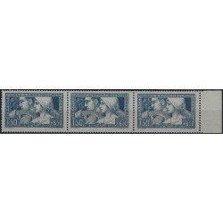 Le travail timbre de France N°252 c 3 types se tenant neuf** SUP.
