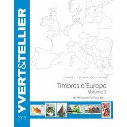 Catalogue de cotation Yvert timbres d'Europe Heligoland à Pays-Bas.