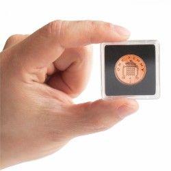 Capsules carrées Quadrum mini pour monnaies de 10 à 29 mm.