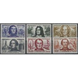 Célébrités 1959, timbres de France N°1207-1212 série Neuf** SUP.
