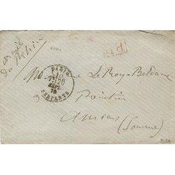 Armée du Rhin lettre en...