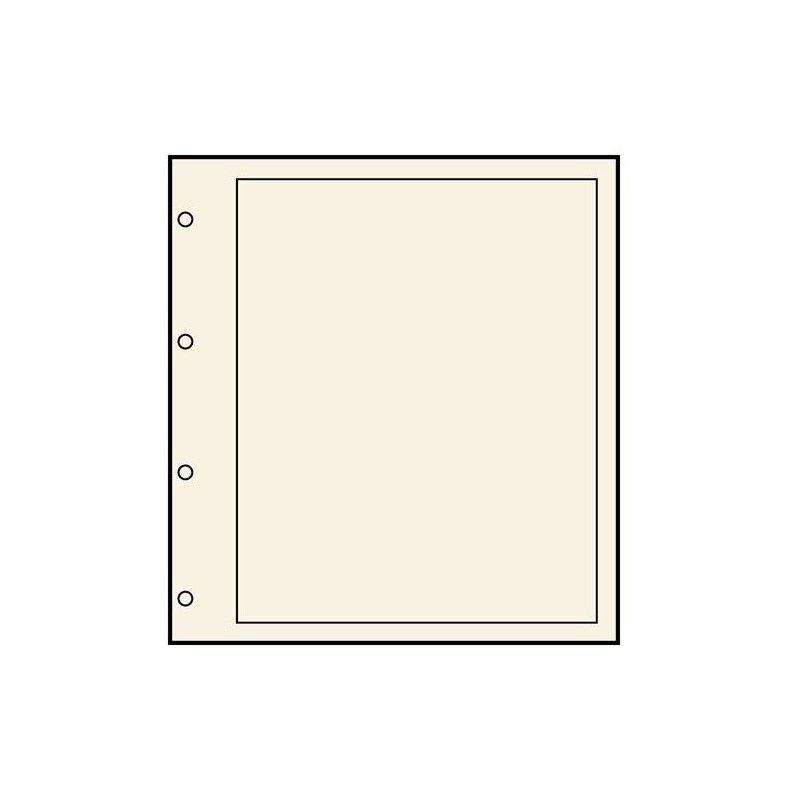 Feuilles neutres Safe chamois avec cadre noir, format A4.
