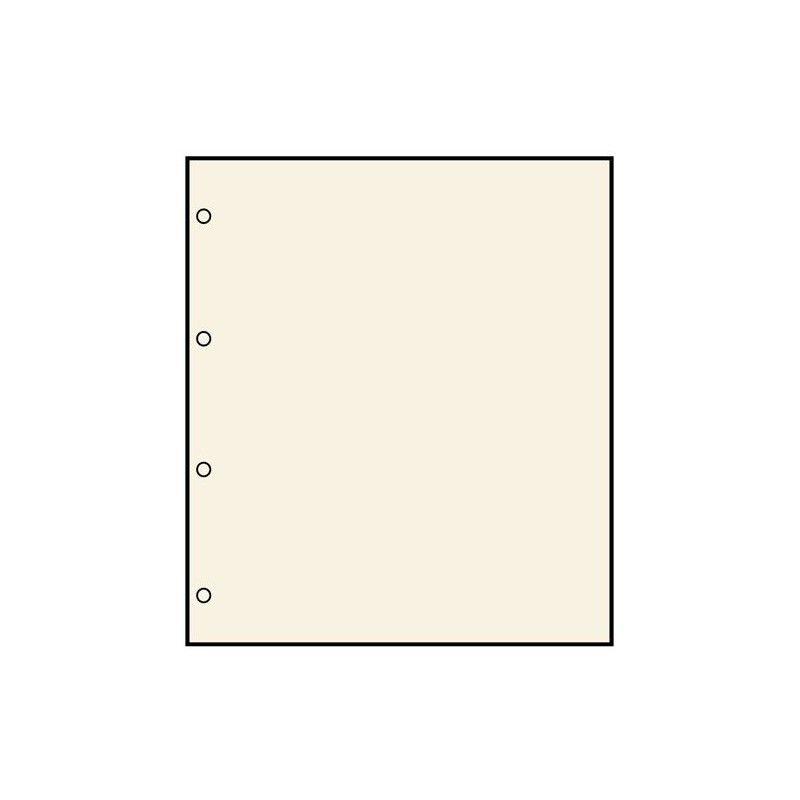 Feuilles neutres Safe chamois avec 4 perforations, format A4.