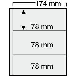 Feuilles transparentes Compact Safe à 3 poches.