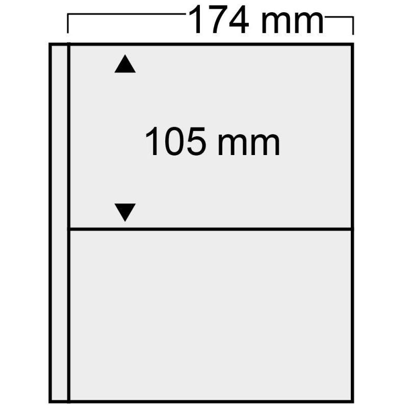 Feuilles transparentes Compact Safe à 2 poches pour FDC de France.