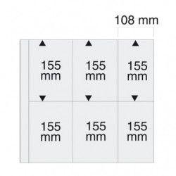 Feuilles transparentes SAFE 6044 pour cartes postales modernes verticales.