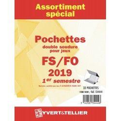 Assortiment de pochettes pour jeux FO/FS France 2019 premier semestre.
