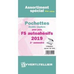 Assortiment de pochettes pour jeux timbres autoadhésifs FO/FS 2019 premier semestre.